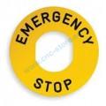 Etichetta emergency stop d.22